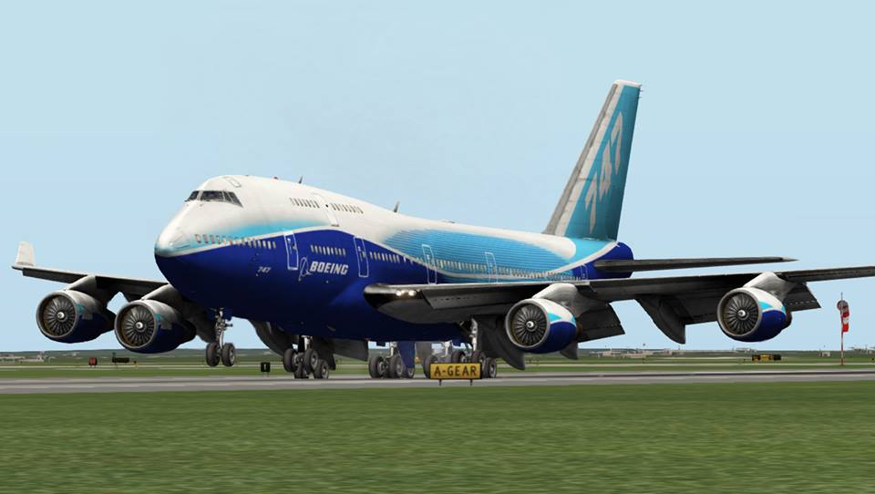 House Livery for Default 747-400 - Heavy Metal - X-Pilot
