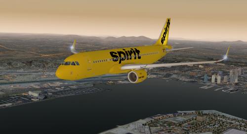 Bare Fare Spirit Airlines N607NK -- Jardesign A320 v1 0