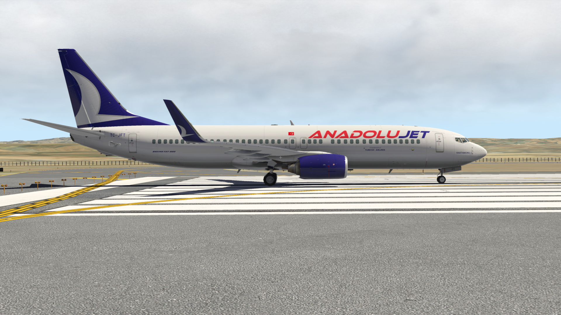 AnadoluJet TC-JFT Livery for ZIBO B737-800 or Default B737