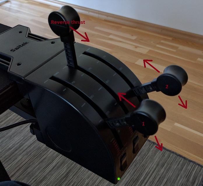 Tip for Saitek throttle quadrant in 737 - General Discussion - X-Pilot