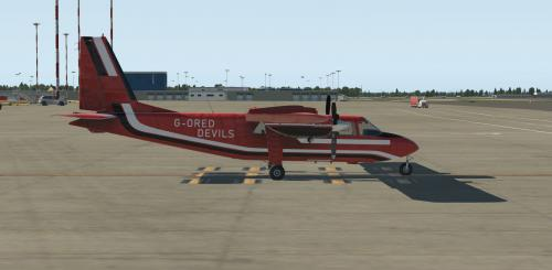 TorqueSim BN-2T Turbine Islander Red Devils (fictional) Livery